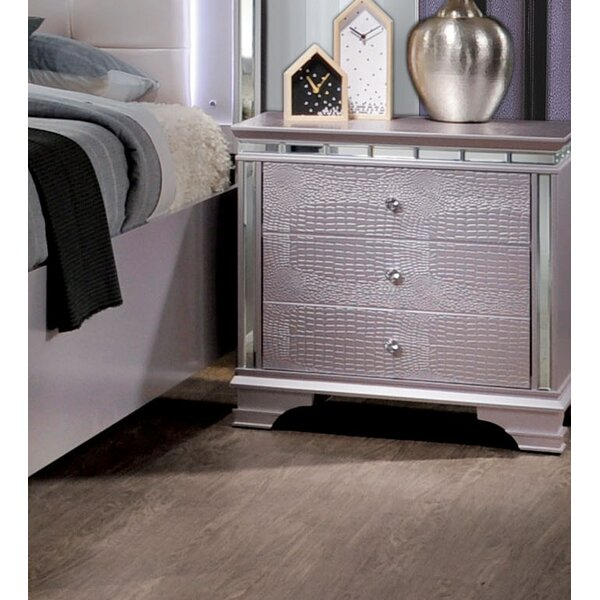 Merauke 3 Drawer Nightstand by House of Hampton