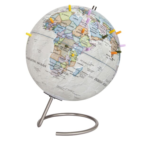 Globe with Stainless Steel Inclination by Latitude Run