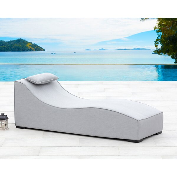 Breeze Chaise Lounge with Cushion by Ove Decors