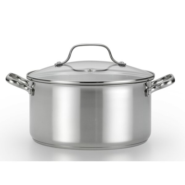 Performa 5 Qt. Stainless Steel Round Dutch Oven by T-fal
