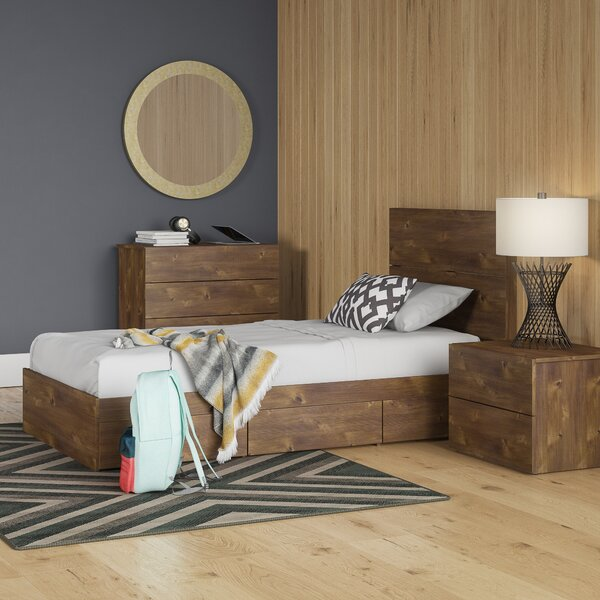 Grantham Twin Platform 3 Piece Bedroom Set by Trule Teen