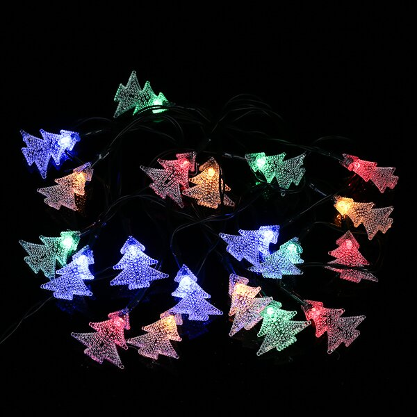 Solar Outdoor Christmas Tree LED 20 Light String Lighting by Winsome House