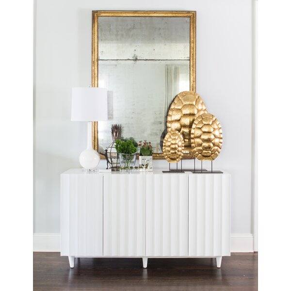 Scalloped Front Sideboard by Worlds Away Worlds Away