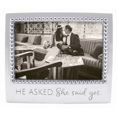 Mariposa Expressions He Asked She Said Yes Picture Frame Wayfair