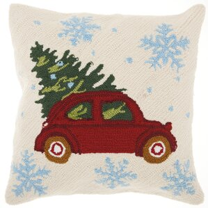 home for the holidays modern square indoor throw pillow