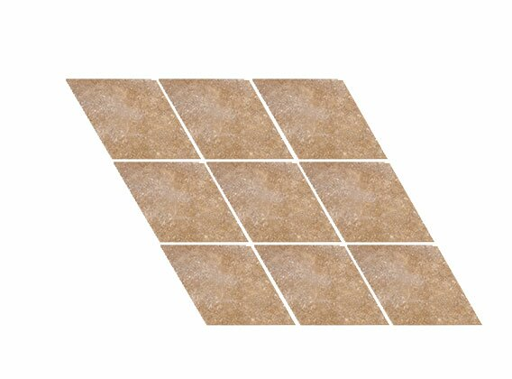 Tumbled Harlequin 4.5 x 4.5 Travertine Field Tile in Noce by Parvatile