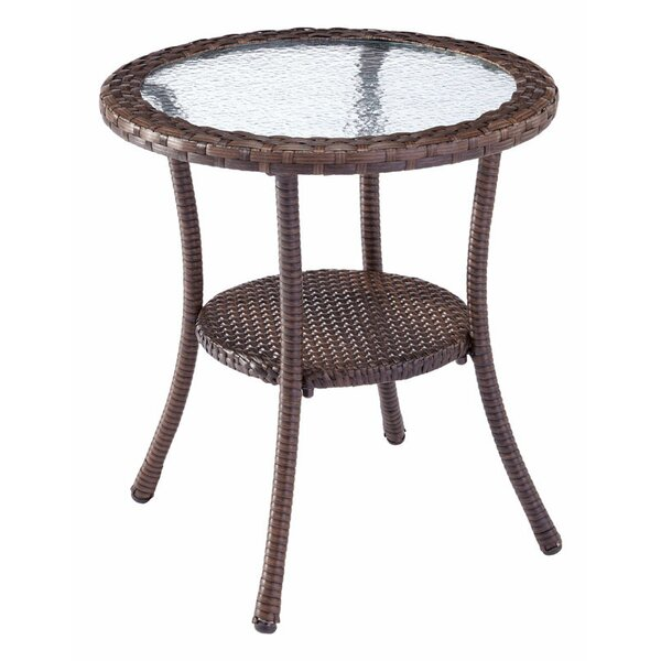 Cyrilmagnin Wicker Bistro Table by Bay Isle Home