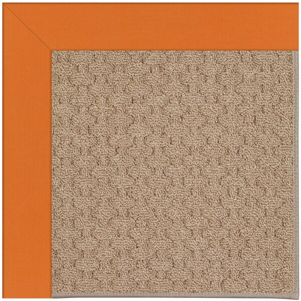 Lisle Machine Tufted Clementine/Brown Indoor/Outdoor Area Rug by Longshore Tides