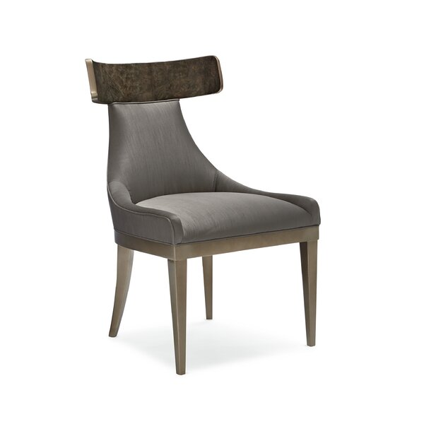 Upholstered Wingback Side Chair In Gray by Caracole Classic Caracole Classic
