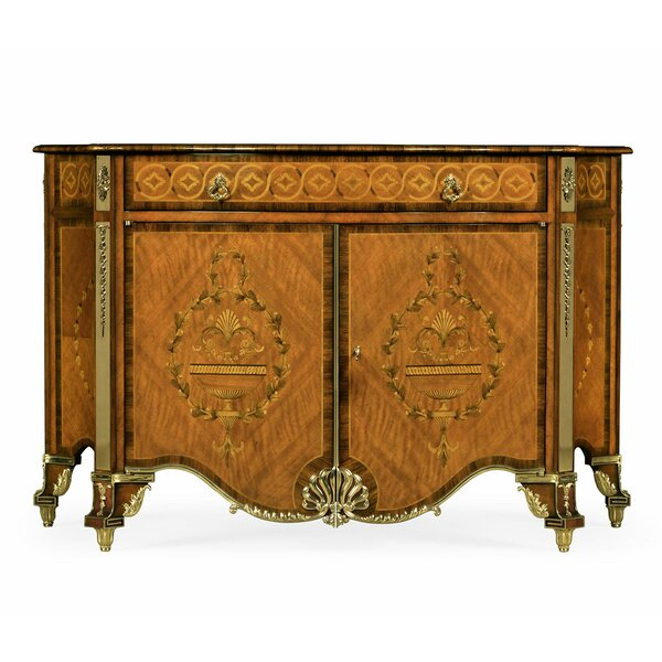 Versailles Chippendale Style Inlaid 2 Door Accent Cabinet by Jonathan Charles Fine Furniture