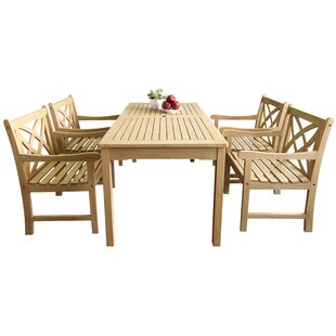 Baskerville Outdoor 5 Piece Dining Set ByDarby Home Co