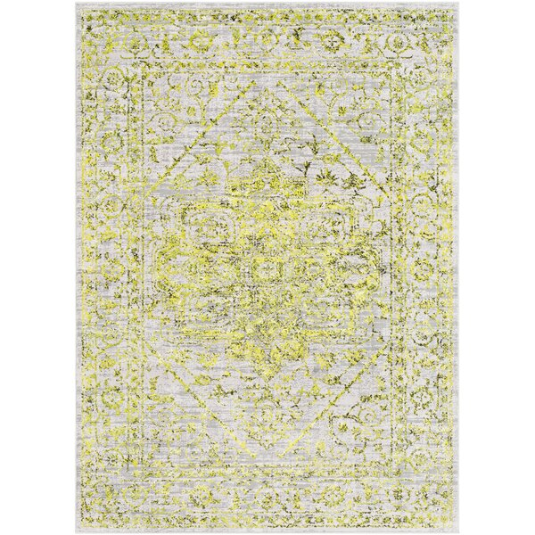 Parramore Oriental Yellow/Green Area Rug by Bungalow Rose