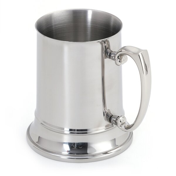 Beer Stein Glass 16 oz. Stainless Steel by Cuisino