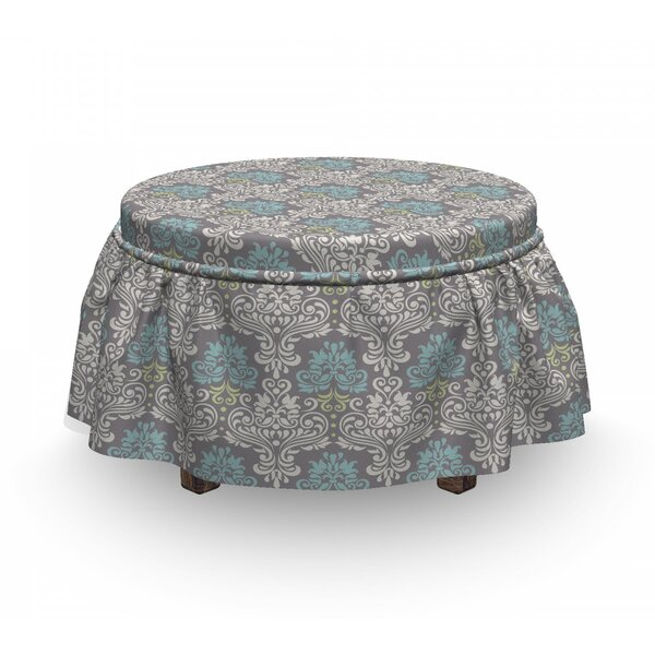 Curly Foliage Ottoman Slipcover (Set Of 2) By East Urban Home