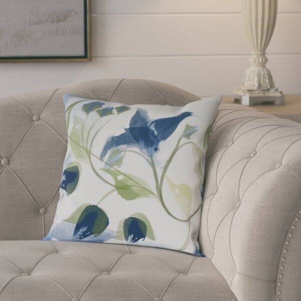Roscoe Windy Bloom Floral Throw Pillow by August Grove