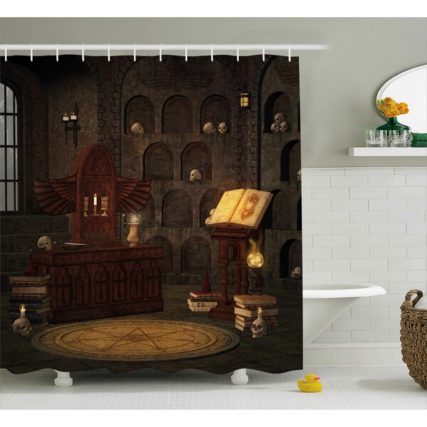 Gothic Magicians with Skulls Shower Curtain by The Holiday Aisle