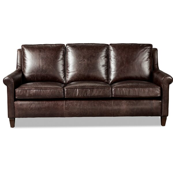 Simcoe Leather Sofa Bed by Westland and Birch