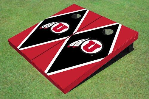 NCAA 10 Piece Matching Diamond Cornhole Board Set by All American Tailgate