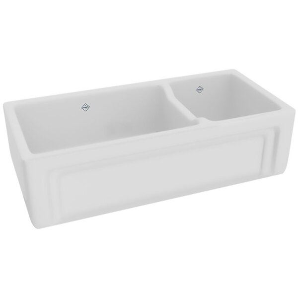 Shaws 39 L x 19 W Double Basin Farmhouse/Apron Kitchen Sink