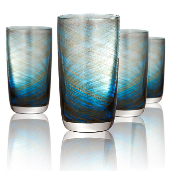 Folke 15 oz. Highball Glass (Set of 4) by Beachcrest Home