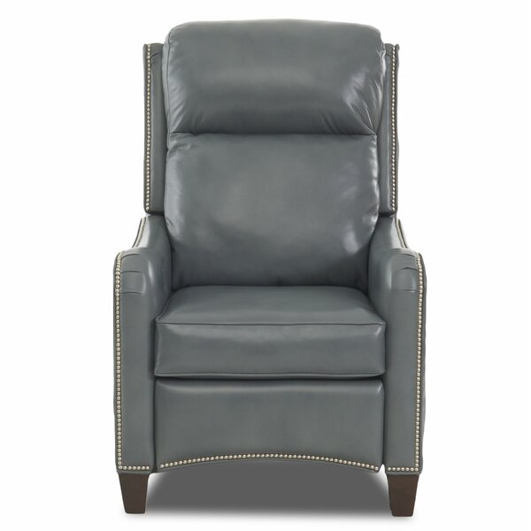 Crawfordsville Leather Power High Leg Recliner by Darby Home Co Darby Home Co