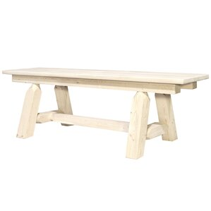 Abella Plank Style Bench by Loon Peak