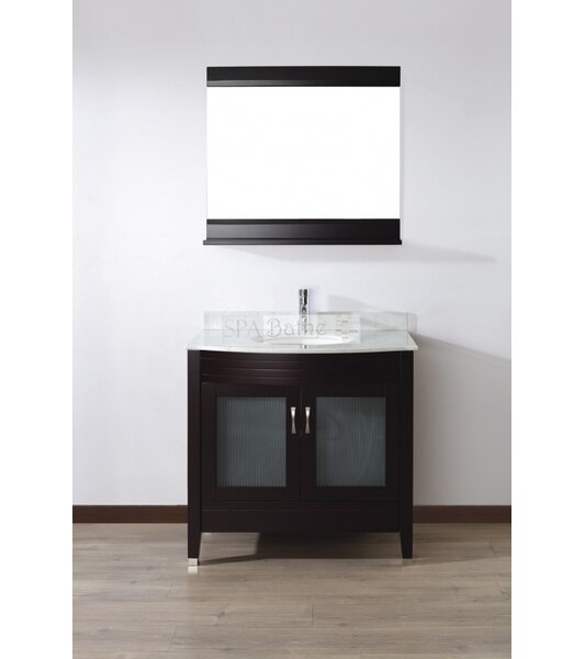 Alfa 36 Single Bathroom Vanity Set with Mirror by Bauhaus Bath