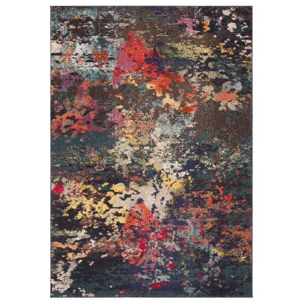 Arianna Brown/Teal Area Rug by Bungalow Rose