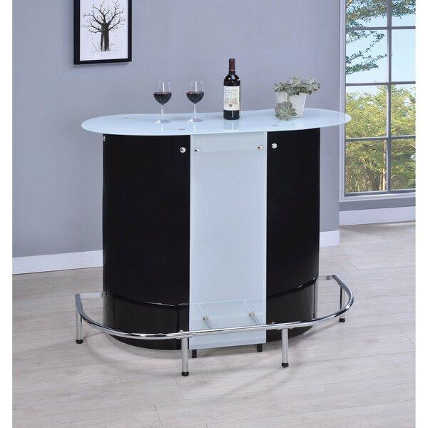 Iverson Bar with Wine Storage by Ebern Designs
