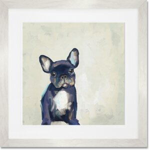 'Best Friend - Frenchie Pup' by Cathy Walters Framed Painting Print by GreenBox Art