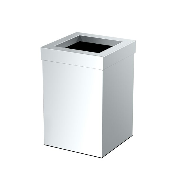Elevate Stainless Steel Open Waste Basket by Gatco