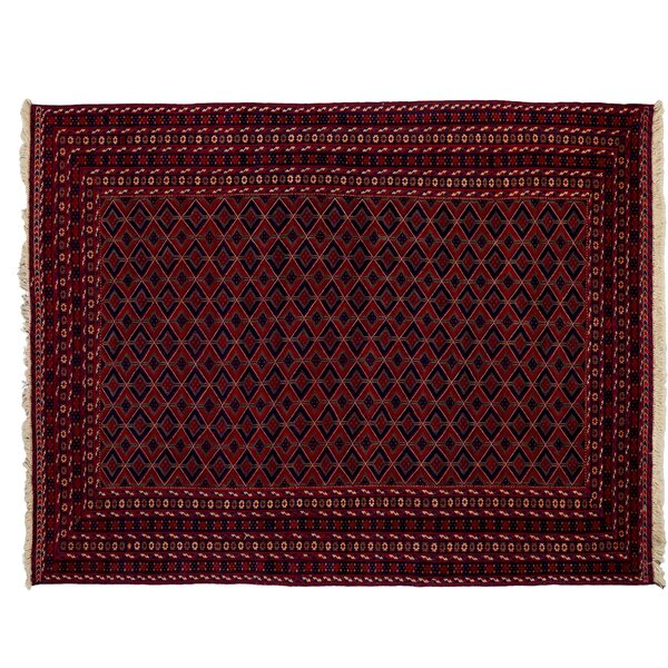 One-of-a-Kind Barjasta Hand-Knotted Red Area Rug by Darya Rugs