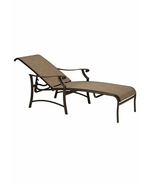 Montreux II Sling Reclining Chaise Lounge by Tropitone