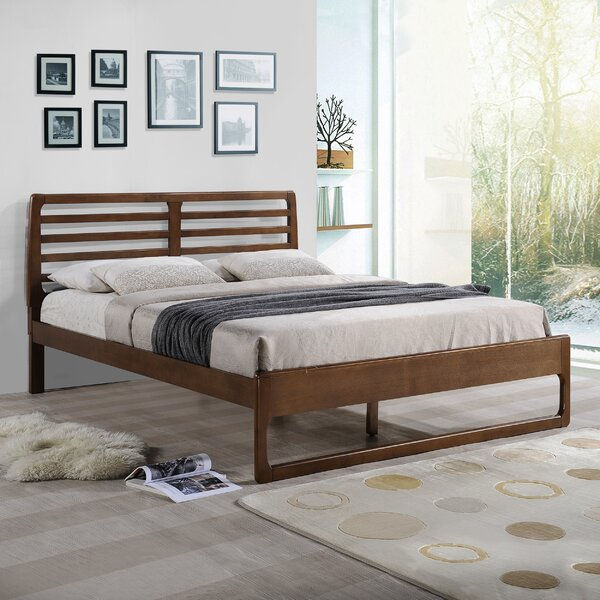 Snowhill Wooden Queen Platform Bed by Ebern Designs