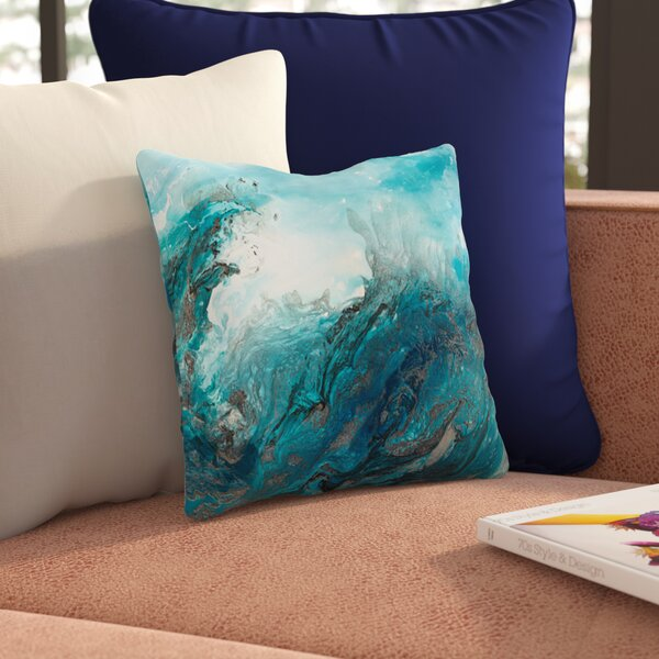 At Sea Throw Pillow by East Urban Home