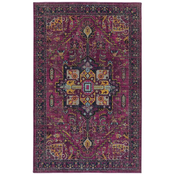 Atherton Pink/Navy Indoor/Outdoor Area Rug By Bungalow Rose