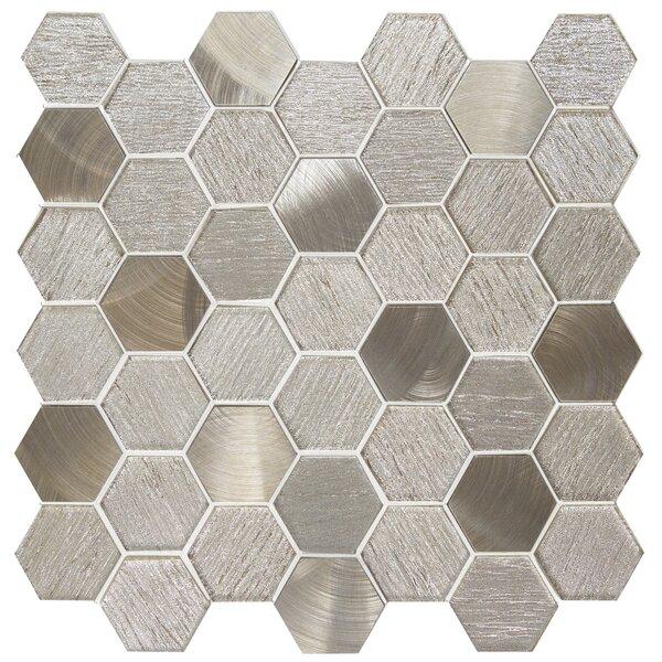 Glitz 2 x 2 Glass/Aluminum Mosaic Tile in Joy by Emser Tile