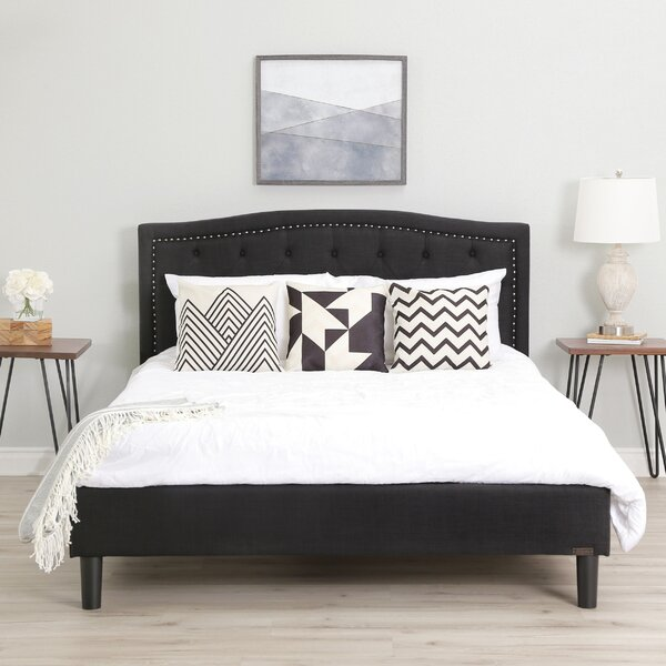Palko Upholstered Platform Bed by Alcott Hill