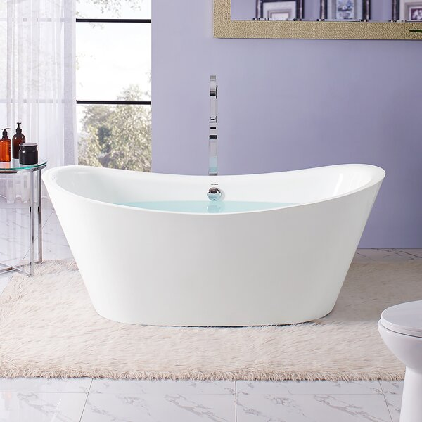 Ivy Flatbottom 67 L x 31 W Freestanding Soaking Bathtub by Swiss Madison