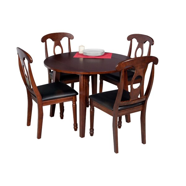 Dinh Modern 5 Piece Solid Wood Dining Set by Latitude Run