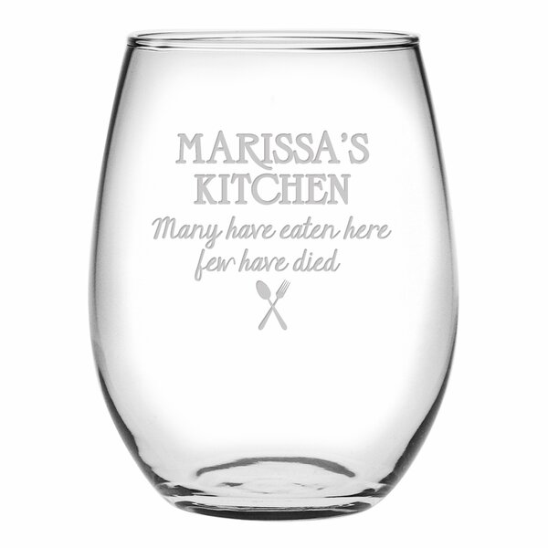 Many Have Eaten Here Stemless Wine Glass (Set of 4) by Susquehanna Glass