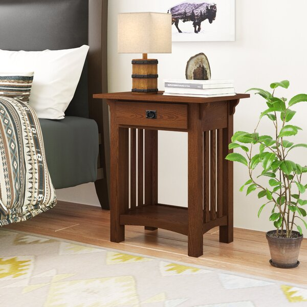 El Cerrito Mission Impeccable 1 Drawer Nightstand by Loon Peak