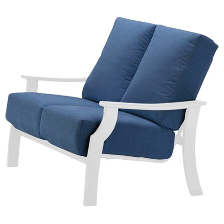 Catherine Indoor/Outdoor Loveseat with Cushion by Telescope Casual