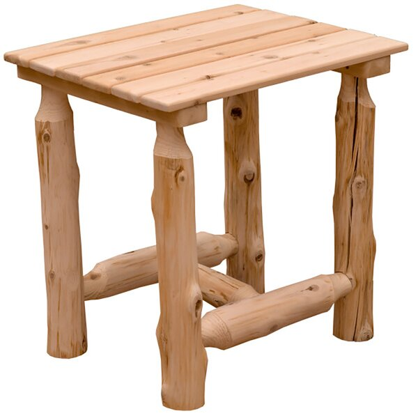 Abbie Outdoor Wooden Side Table by Loon Peak