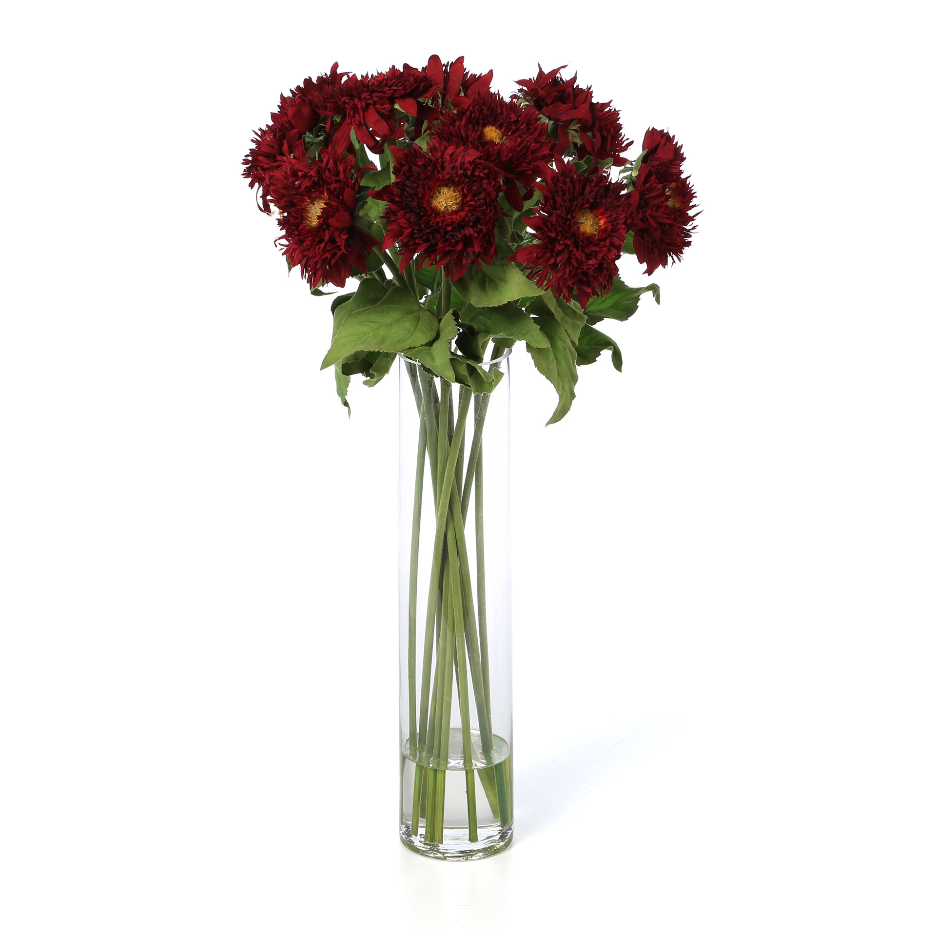 Nearly Natural Sunflower With Cylinder Silk Floral Arrangements