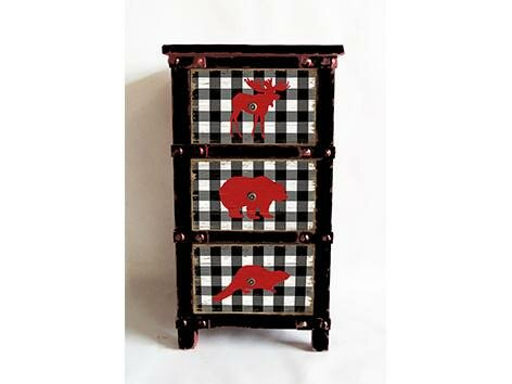 Rye Animal Buffalo Plaid 3 Drawer Accent Chest by Millwood Pines