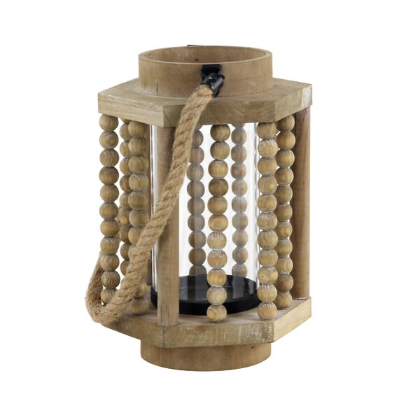 Rustic Wood Lantern by Bungalow Rose