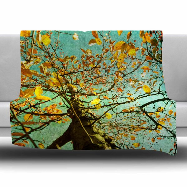 Autumn Tree by Sylvia Coomes Fleece Blanket by East Urban Home