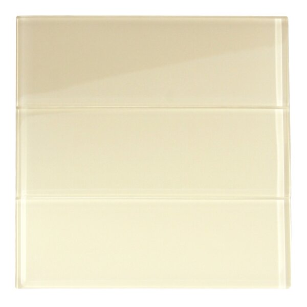 Zirconium 4 x 12 Glass Mosaic Tile in Cream by CNK Tile