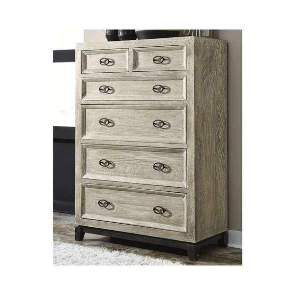 Halamay Wirebrushed 6 Drawer Chest by Signature Design by Ashley